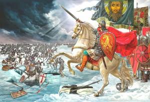 18 АПРЕЛЯ - ДЕНЬ ПОБЕДЫ РУССКИХ ВОИНОВ КНЯЗЯ АЛЕКСАНДРА НЕВСКОГО НАД НЕМЕЦКИМИ РЫЦАРЯМИ НА ЧУДСКОМ ОЗЕРЕ